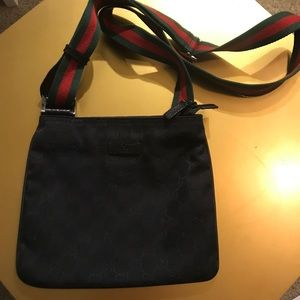 Gucci Monogram Cross Body Bag